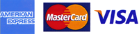 We accept American Express, Visa and Mastercard